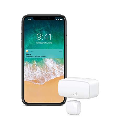 Eve Door & Window - Smarter Kontaktsensor für Türen & Fenster (Dt. Markenqualität), Mitteilungen (offen/zu), automatische Aktivierung einzelner Geräte & Szenen, keine Bridge nötig (Apple HomeKit)