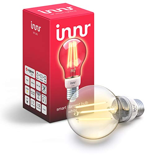 Innr E27 Smart Filament LED Lampe White, warmweiß, works with Philips Hue* & Echo Plus, RF 265 (1-Pack)
