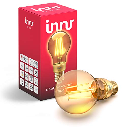 Innr E27 Smart Filament LED Lampe Vintage, 2200K Flame, works with Philips Hue* & Echo Plus, RF 263 (1-Pack)