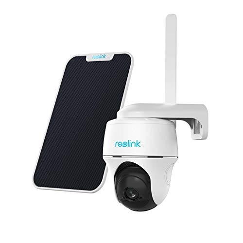 Reolink Go PT 3G/4G LTE Überwachungskamera Aussen + Solarpanel, Kabellose Akku IP Kamera Outdoor, 355°/140° Schwenkbar, PIR Bewegungsmelder, 1080p Full HD, 32GB microSD Karte, 2-Wege-Audio, Zeitraffer