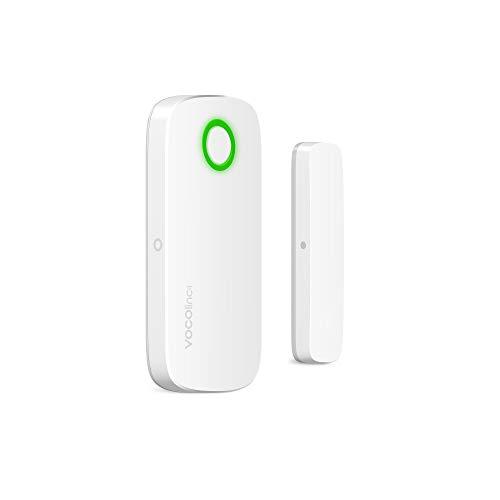 VOCOlinc Apple HomeKit NUR Kontaktsensor Türfensteralarm Bluetooth Smarter Home Security Kabellos Energie Sparen Home Hub Fernzugriff VS1 (1 Pack)